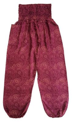 Red Maroon Baggy Pants Thai Graphic Design