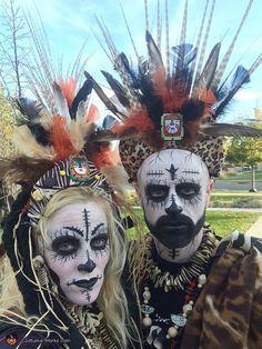 UDU Voodoo Masque prêtre Tribal Guerrier Zombie Halloween Adulte Costume Accessoire