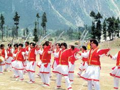 Attan (Pashto: اتڼ) is a form of dance that originated in western Pakistan. Attan began as a folk dance conducted by in the time of war or during weddings or other celebrations (engagement, new year and informal gatherings).