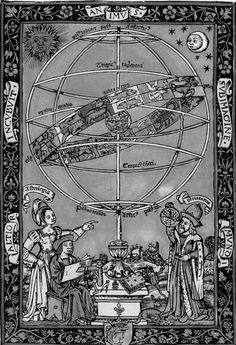 ptolemy | Claudius Ptolemy (Ptolomeus in Latin) observing a huge armillary ...