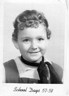 Vintage School Photo..Pin Curls, 1950's Original Found Photo, Vernacular Photography, American Social History Photos by iloveyoumorephotos on Etsy