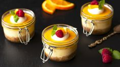 Ostekake med appelsinkrem