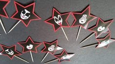 Kiss Band Cupcake Toppers Kiss Band Birthday Party Kiss