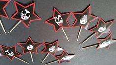 Kiss Band Cupcake Toppers Kiss Band Birthday Party Kiss