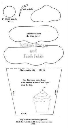 templates cupcake