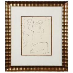 1stdibs.com | Original ink sketch by Jean Cocteau