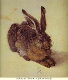 Albrecht Durer. A Young Hare. 1502. Watercolour and gouache on paper. Graphische Sammlung Albertina, Vienna, Austria