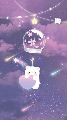 Iphone Wallpaper Kawaii, Cute Galaxy Wallpaper, Cute Panda Wallpaper, Purple Wallpaper Iphone, Cute Pastel Wallpaper, Anime Scenery Wallpaper, Aesthetic Pastel Wallpaper, Cute Wallpaper Backgrounds, Pretty Wallpapers