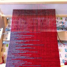 Clasped weft scarf on rigid heddle loom via Ravelry: girlin14g's First Clasp Weave Scarf
