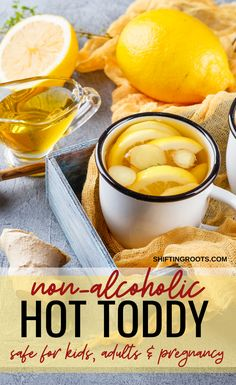 Calm Your Cough with a Four-Ingredient Hot Toddy - Cold, sore throat, or cough got you down? Try this non-alcoholic hot toddy with lemon, honey, and - Natural Asthma Remedies, Cold Home Remedies, Herbal Remedies, Natural Cures, Natural Treatments, Natural Foods, Natural Antibiotics, Natural Skin, Natural Beauty