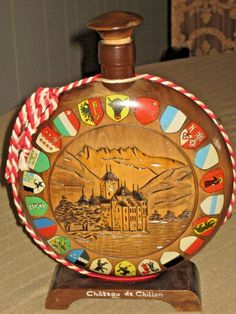 VTG Chateau de Chillon Switzerland decorative Souvenir