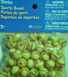 Details about SoftBall Beads for school sports jewelry necklaces bracelets kids crafts 60 Softball Beads Plastic Sports Kids Crafts Jewelry Necklace School Kids Sports Crafts, Softball Crafts, Girls Softball, Softball Players, Crafts For Kids, Softball Stuff, Volleyball, Softball Goodie Bags, Baseball Jewelry