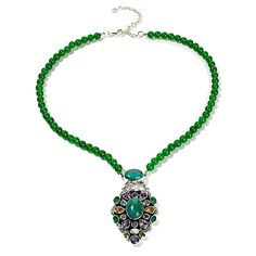 Nicky Butler Raj Chrysocolla and Multigem Necklace....gorgeous   !!!!