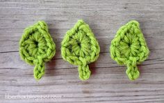 One Round Leaf Free Crochet Pattern <