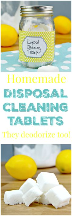 Homemade garbage disposal cleaning tablets and a list of foods that you should… Homemade Cleaning Products, Cleaning Recipes, House Cleaning Tips, Natural Cleaning Products, Cleaning Hacks, Cleaning Supplies, Natural Products, Cleaning Cart, Green Cleaning