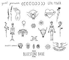Woman on my hip Red Ink Tattoos, Flower Tattoos, Body Art Tattoos, Hand Tattoos, Small Tattoos, Flash Tattoos, Stick Poke Tattoo, Stick N Poke, Dibujos Tattoo