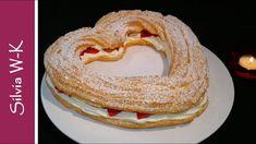 Windbeutel / Windbeutel-Herz / Muttertag - YouTube Bagel, Pancakes, Bread, Breakfast, Youtube, Food, Pies, Kuchen, Choux Pastry