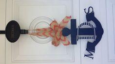Monogrammed anchor door hanger