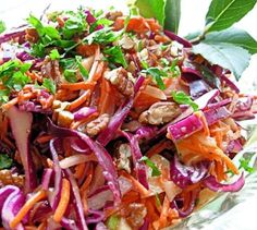 Dazzling Winter Slaw - Red Cabbage Apple And Pecan Salad Recipe - Genius Kitchen