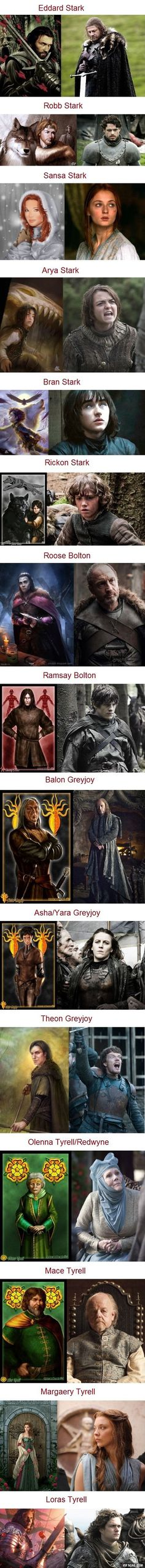 Game of Thrones Characters: In the Books vs. On the Show Part 2: