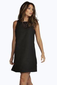 Delilah 60's Sleeveless Woven Shift Dress at boohoo.com