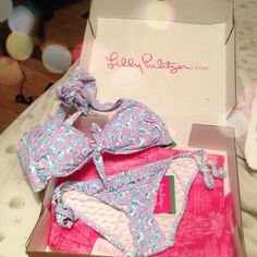 Lilly Pulitzer bathing suit...of course she didn't want the matching bottoms because that is just not cool!