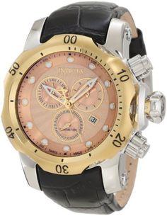 New Men's Invicta 10818 Venom Reserve Swiss Chronograph Rose Gold Dial Watch