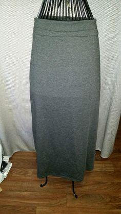 Womens Full length Skirt Stretchy Gray XL Faded Glory #FadedGlory #FullSkirt