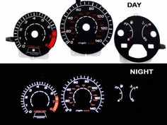 90-93 Honda Accord MT Black/(white Light) Glow Gauge by High performance parts. $45.00. RCF-0HA-90-93-MAB Specification:   Gauge Faces are Anti-Glare and Scratch Resistant Surface.  Each kit comes with all accessories: Complete Wiring, Adjustable Power Inverter, Power switch and Gauge Faces