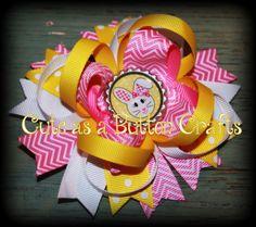 Adorable Easter boutique bunny hair bow