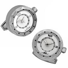 Stainless Steel Small Face Watch Cufflinks