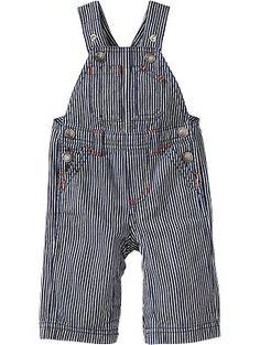 Railroad-Striped Overalls for Baby | Old Navy