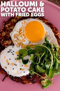 These halloumi and potato cakes are made from a mixture of shredded potato and onion with grated halloumi. They taste great served topped with a runny fried egg and a drizzle of chilli oil! #thecookreport #potatocake #halloumirecipe #vegetarian Egg Recipes, Vegan Recipes Easy, Kitchen Recipes, Brunch Recipes, Summer Recipes, Easy Dinner Recipes, Dessert Recipes, Halloumi Pasta, Vegetarian Sandwich Recipes