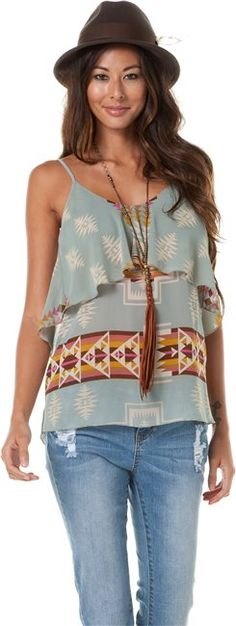 EIGHT SIXTY NAVAJO TIERED TANK > Womens > Clothing > Tanks | Swell.com