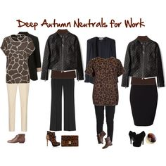 Deep Autumn Neutrals for Work by jeaninebyers on Polyvore featuring KAGE, KaufmanFranco, McQ by Alexander McQueen, Vanessa Bruno, Karl Lagerfeld, Witchery, Reiss, ZiGiny, Sam Edelman and Madewell