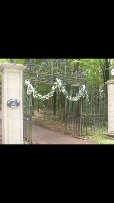 Floral decoration on the entrance! Norfolk Wedding and Event Venue - Holiday Cottages