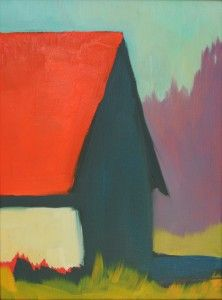 Barn With Mauve Trees by Erin Lee Gafill