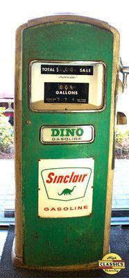 Original Sinclair Dino Gasoline Pump | eBay