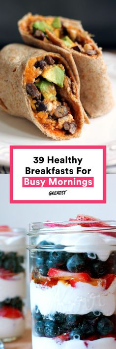 Many of these healthy breakfast ideas are perfect…