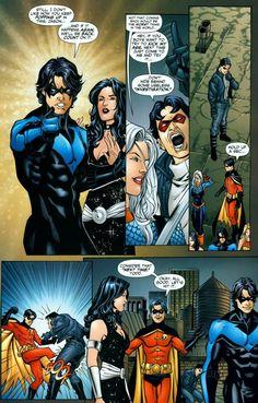 Nightwing, Robin, and Jason Todd - Teen Titans #47