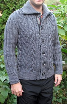 Striped Pants Mens, Sweater Cardigan, Men Sweater, Baby Warmer, Knitting Designs, Wool Sweaters, Free Pattern, Mens Fashion, Pullover