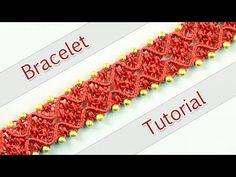 ▶ DIY Double Wave Macramé Bracelet - Tutorial ◡◠◡◠◡ - YouTube