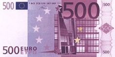 The 500 Euro note has a different aesthetic than previous notes. This note shows a more modernized architecture, unlike those with Romanesque influence.