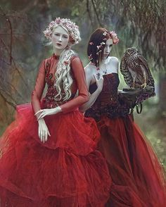 My another one, fairytale image from series with @mariaamanda_official & @forest_spirit_art models & hawk ✨/ dresses from @gosiamotas #agnieszkalorek #fairytale #fantasy #fairy #elves #elf #bird #hawk #girlwithbird #reddress #gown #longhair #whitehair #hairstyles #girls #instacool #portrait #danishgirl #polishgirl #forest #freespirit #fashionkilla #flowersinmyhair #magic #fairyprincess