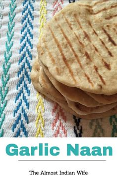 Garlic Naan Recipe- Simple garlic naan that could be served with hummus, as pizza, or alongside your favorite Indian dish!