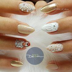 Xmas Nails, Winter Nail Art, Christmas Nail Art, Winter Nails, Nail Polish Designs, Nail Art Designs, Nail Pro, Gel Nails, Gel Nagel Design