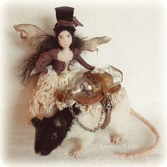 Fidelia & Hemlock - by Lavender & Lark - Faerie Art doll