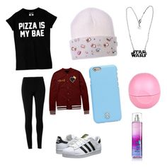 """""""Chilling.out outfit"""" by cisnerosal on Polyvore featuring Max Studio, Tory Burch, Eos and adidas Originals"""