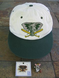 best service 52837 dc1d3 Oakland A s Elephant Mascot SGA Hat Cap AND Bonus 2 Collector Pins Thumper   amp .