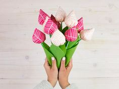 DIY-Anleitung: Tulpen zum Muttertag nähen via DaWanda.com